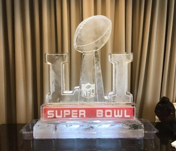 super bowl ice sculpture