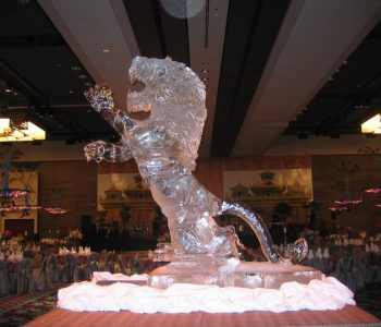 ice lion art after