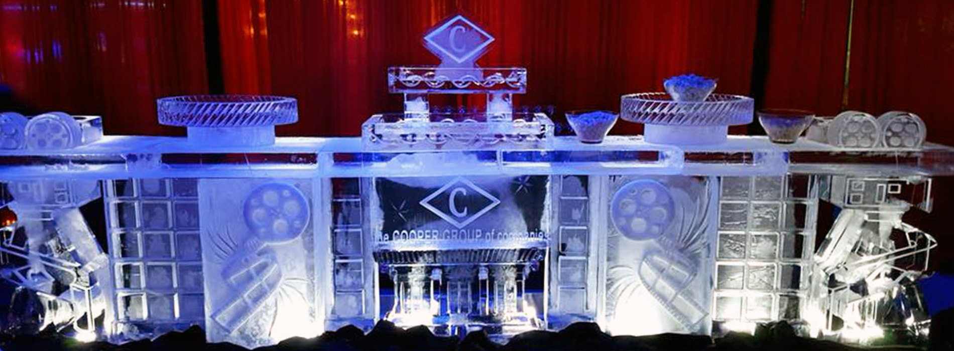 ice sculptures at a party