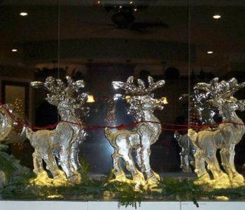 deer ice art