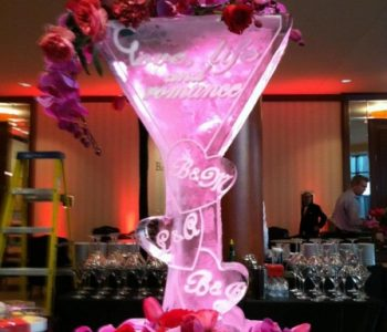glass ice sculputure
